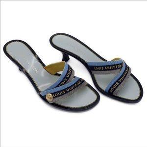 aea170c3baf3 Louis Vuitton Kitten Heel Sandals Size 7